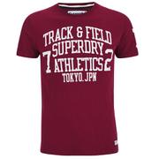 Superdry Men's Trackster T-Shirt - Rich Burgundy
