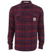 Superdry Men's Milled Flannel Long Sleeve Shirt - Ontario Navy