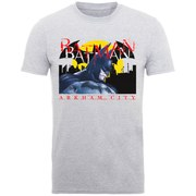 DC Comics Batman Arkham Close Up Men's T-Shirt - Heather Grey