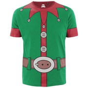 Xplicit Men's Santa Suit Christmas T-Shirt - Jolly Green
