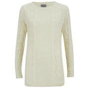 Vero Moda Women's Vintage Long Sleeve Jumper - Antique White