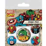 Marvel Retro Hulk - Badge Pack