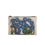 Vivienne Westwood Women's Snake Zip Pouch Clutch Bag - White