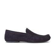 HUGO Men's C-Home Leather Slippers - Dark Blue