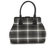 REDValentino Women's Double Handle Check Tote Bag - Black/Grey