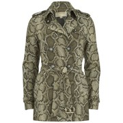 MICHAEL MICHAEL KORS Women's Short Printed Trench Coat - Duffle