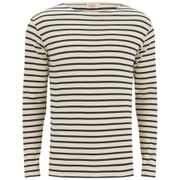 Armor Lux Men's Breton Stripe Long Sleeve T-Shirt - Zand/Rich Navy