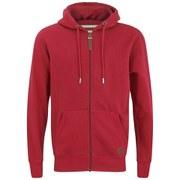 Smith & Jones Men's Kent Zip Through Hoody - Red
