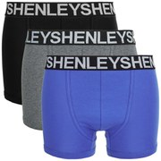 Henleys Men's 3 Pack Boxers - Purple/Grey/Black