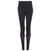 Asics Women's Stripe Running Tights - Performance Black/Pink Glow