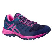 Asics Women's Gel FujiAttack 4 Trail Running Shoes - Indigo Blue/Pink Glow/Mosaic Blue