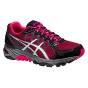 Asics Women's Gel FujiTrabuco 4 Running Shoes - Deep Ruby/Silver/Black