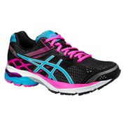Asics Women's Gel Pulse 7 Running Shoes - Black/Turquoise/Pink Glow