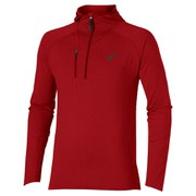 Asics Men's FujiTrail 1/2 Zip Running Hoody - Deep Ruby Heather