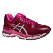 Asics Women's Gel Kayano 22 Running Shoes - Deep Ruby/White/Pink Glow