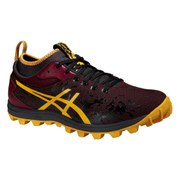 Asics Men's Gel FujiRunnegade Trail Running Shoes - Royal Burgundy/Spectra Yellow
