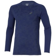 Asics Men's Long Sleeve Running Top - Indigo Blue