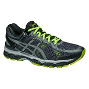 Asics Men's Gel Kayano 22 Lite Show Running Shoes - Black/Silver/Flash Yellow