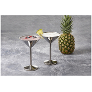 Stainless Steel Martini Glasses (Set of 2 x 250ml)