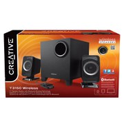Creative T3150 Wireless Bluetooth 2.1 PC Speaker System with Subwoofer and Remote - Black