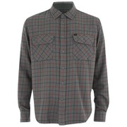 OBEY Clothing Men's Vargas Woven Long Sleeve Shirt - Charcoal Multi