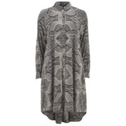 OBEY Clothing Women's Remy Long Sleeved Shirt Dress - Black/White