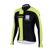 Sportful Gruppetto Thermal Long Sleeve Jersey - Black/Yellow Fluo