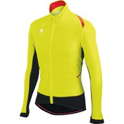Sportful Fiandre Light Wind Long Sleeve Jersey - Yellow Fluo/Black
