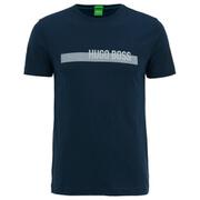 BOSS Green Men's 3 Chest Logo Crew Neck T-Shirt - Navy