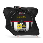 Scicon AeroComfort 2.0 TSA Bike Bag Padlock and External Lateral Shields - Black - MTN Qhubeka Team Edition