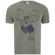 Marvel Men's Hulk Grab T-Shirt - Heather Military Green