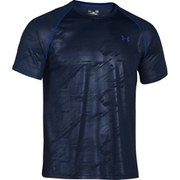 Under Armour Men's Tech Patterned Short Sleeve T-Shirt - Academy Grey