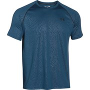Under Armour Men's Tech Patterned Short Sleeve T-Shirt - Petrol Blue/Steel