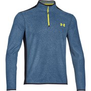 Under Armour Men's ColdGear Infrared Survival Long Sleeve 1/4 Zip Fleece - Petrol Blue/Black