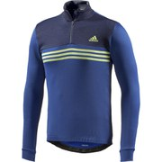 adidas Men's Response Warm Long Sleeve Jersey - Grey/Blue/Yellow