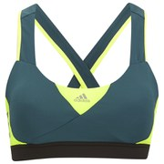 adidas Women's GT Supernova Sports Bra - Green/Yellow
