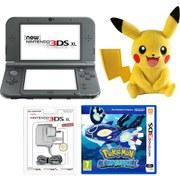 New Nintendo 3DS XL Metallic Black + Pokémon Alpha Sapphire
