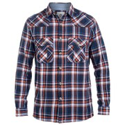 Urban Beach Men's Dear Boy Long Sleeve Checked Shirt - Blue