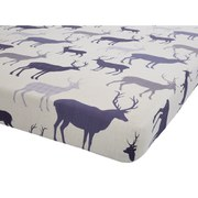 Catherine Lansfield Grampian Stag Fitted Sheet - Mulberry