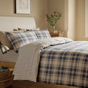 Catherine Lansfield Tartan Brushed Bedding Set - Multi