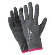RonHill Merino 200 Glove - Grey/Magenta