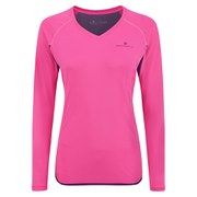 RonHill Women's Vizion Long Sleeve Top - Pink/Wildberry