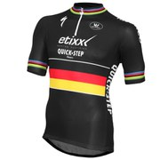 Vermarc Etixx-Quick Step German National Champion Short Sleeve 1/4 Zip Jersey - Black