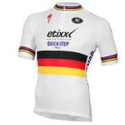 Vermarc Etixx-Quick Step German National Champion Short Sleeve 1/4 Zip Jersey - White
