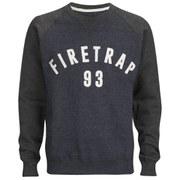 Firetrap Men's Rumsey Crew Neck Raglan Sweatshirt - Midnight