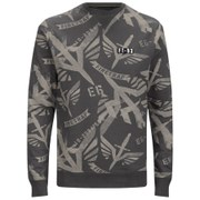 Firetrap Men's Sudrey All Over Printed Sweatshirt - Dark Shadow