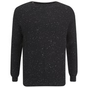Selected Homme Men's Neps Crew Neck Sweatshirt - Black