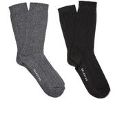 Selected Homme Men's North 2 Pack Socks - Black