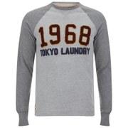 Tokyo Laundry Men's Cold River Raglan Long Sleeve Top - Light Grey Marl