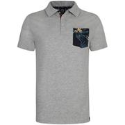 Animal Men's Floral Pocket Nep Polo Shirt - Grey Marl